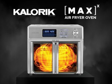 MAXX CRISP. MAXX SIZZLE. The only oven that can air fry AND grill!