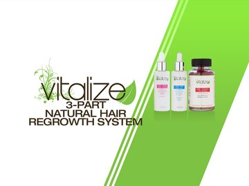 Vitalize 3-Part Natural Hair Regrowth System