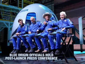 Blue Origin Officials Hold Post-Launch Press Conference