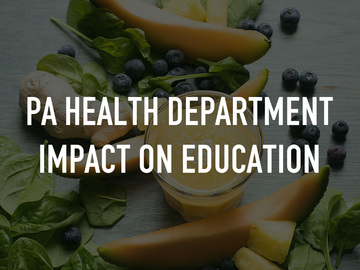 PA Health Department Impact on Education